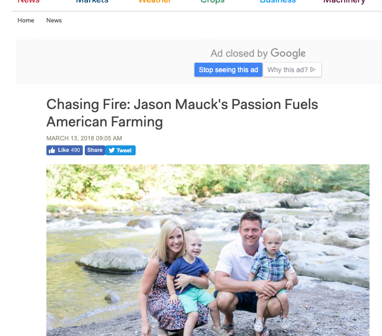 Chasing Fire: Jason Mauck's Passion Fuels American Farming
