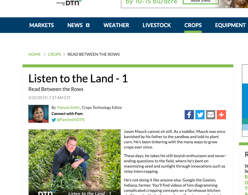 Listen to the Land, Read Between the Rows
