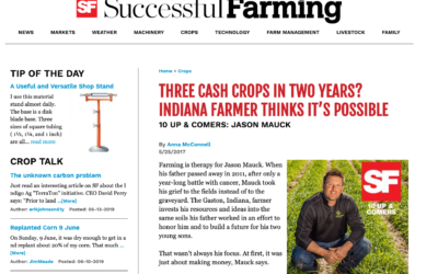 Three cash crops in 2 years? Indiana farmer thinks it's possible